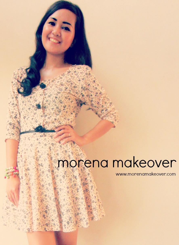 Morena Makeover Flats Vintage Short Dress Morena Makeover